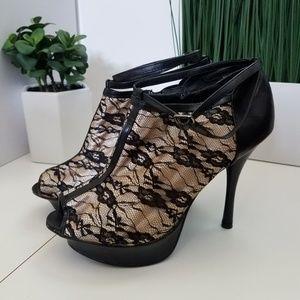 JustFab Shoes - Peep toe bootie